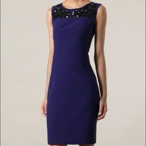 Dvf embellished purple dress
